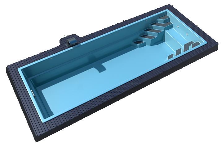 Композитный бассейн Sol 10