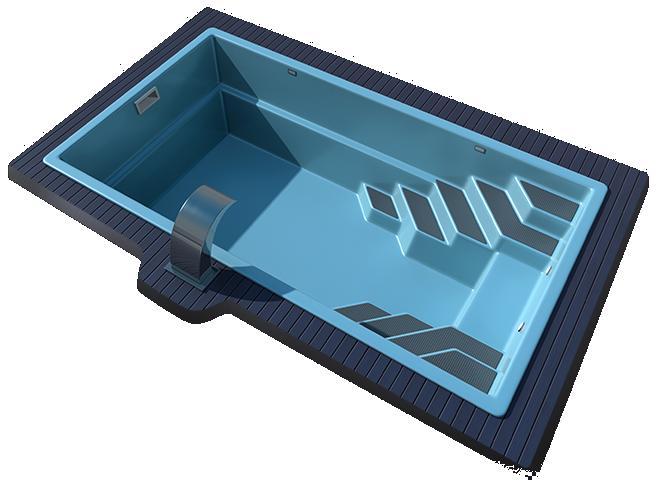 Композитный бассейн Sol 6