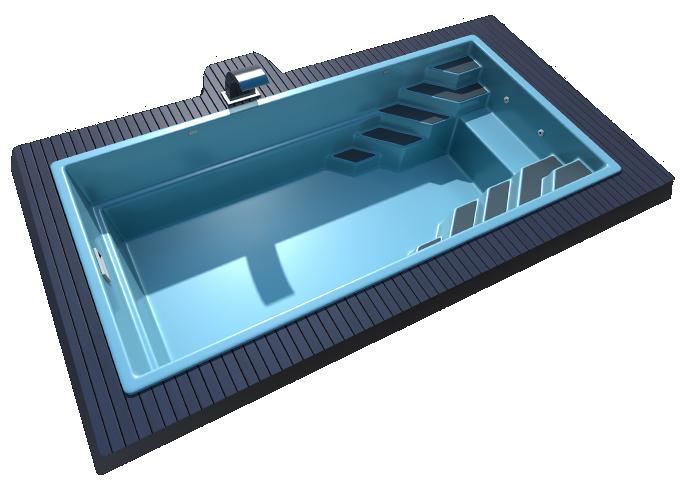 Композитный бассейн Sol 7